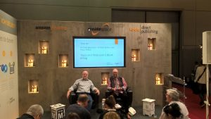 Lesung auf der Amazon-Bühne zusammen mit Béla Bolten